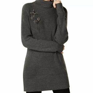 Inc size XL Embellished Tunic Turtleneck Sweater